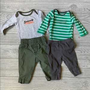 Lot of 2 Carter's outfits size 3 months